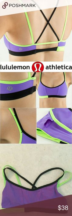 🌸Lululemon🌸Ignite Bra Fun, bright and strappy Lululemon bra. The perfect piece to make a statement. Insert for pads. If you want pads you must let me know :-) Excellent condition! lululemon athletica Intimates & Sleepwear Bras