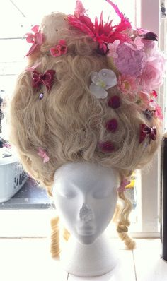 Halloween girls wig,Marie Antoinette princess,birds,ice cream,cakes,hearts. $241.00, via Etsy.