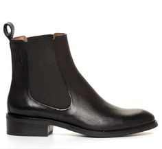 <3 Nilson Shoes Kängor och Boots AVA CHELSEA Skinn Svart