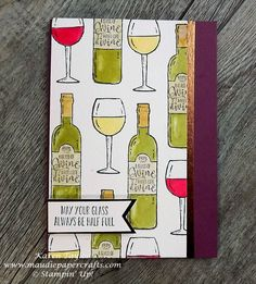 Stampin' Up! Half Full birthday card from Maudiepapercrafts