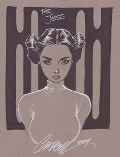 Princess Leia - J. Scott Campbell ✤ || CHARACTER DESIGN REFERENCES | キャラクターデザイン | çizgi film •