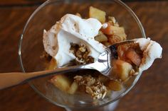 The brilliant secret to an easy crisp is just cooking up some apples and putting granola on top. | 17 Recipes Every Lazy Girl Needs To Know