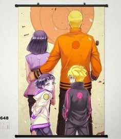 Anime Naruto Home Decor Wall Poster Scroll Uzumaki Naruto Family 4560Cm C18