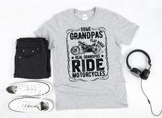 Motorcyclist Grandpa Tshirt/ Funny Grandpa Motorcycle Shirt | Etsy Breast Cancer Survivor Gifts, Motorcycle Gifts, Corgi Funny, Online Gift, Short Sleeve Tee, Cool Shirts, Funny Tshirts, Grandpa Gifts, Unisex