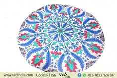 Colorful Floral Roundie Mandala Beach Throw Blanket Tapestry Bohemian Gypsy Cotton Table Cloth