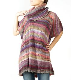 Colourful and warm poncho. Would match my Sirena shirt by camixa.com