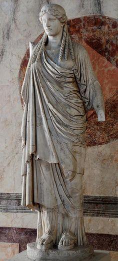 "Minerva (Athena) (""Parthenos""), Roman statue (marble), copy after Greek original by Phidias, ? (original 5th c. BC), (Palazzo Ducale, Mantua)."