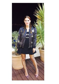 The SheJ in Sequin stars bomber jacket | Zoe Karssen