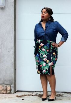 Curvy, Petite Outfit Ideas | Professional and Casual-Chic Fashion and Style Inspiration | Winter Florals - (Weekend Style) by @petitecareergrl