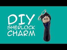 DIY Sherlock Polymer Clay Charm for Sherlock Fans - A GeekyMcFangirl Tutorial Sherlock Crafts, Fandom Jewelry, Sherlock Fandom, Jewelry Website, Polymer Clay Charms, Craft Tutorials, Detective, How To Find Out, Fans