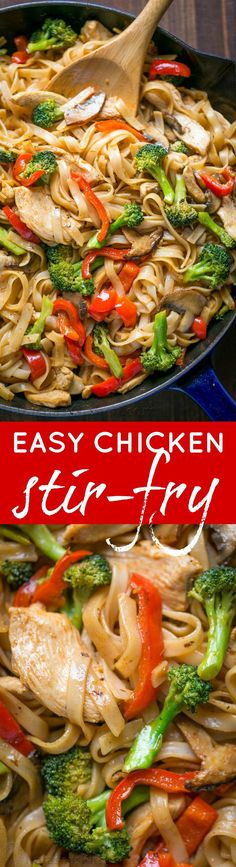 A quick and easy stir fry recipe thats done in 30 min! It's perfect for busy weeknights and healthier than takeout! Watch the easy stir fry video recipe.   http://natashaskitchen.com
