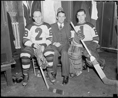 Eddie Shore and Tiny Thompson | Boston Bruins | NHL | Hockey | Creator/Contributor: Jones, Leslie, 1886-1967 (Photographer)