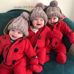 Would you like to have triplets? Cute Funny Babies, Cute Baby Boy, Cute Little Baby, Cute Kids, Baby Kids, Baby Boy Photos, Baby Pictures, Pinup Dress, Triplet Babies