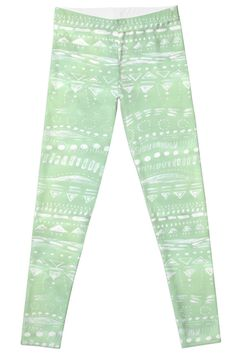 A personal favorite from my Etsy shop https://www.etsy.com/listing/463240512/mint-green-geometric-leggings-womens