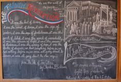Waldorf ~ 8th grade ~ The French Revolution ~ chalkboard drawing