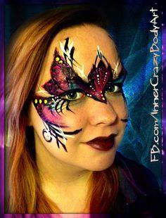 Fantasy Mask inspired by Mark Reid Artist: Marie Sulcoski Model: Cassy www.facebook.com/InnerCrazyBodyArt www.facebook.com/JustPlainCrazyFaceArt