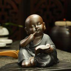 Kung Fu Tea Accessories (Free Delivery) – Laniwyn Homes Buddha Temple, Buddha Buddhism, Buddha Art, Sculpture Art, Sculptures, Buddha Garden, Little Buddha, Art Asiatique, Buddha Statues