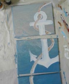 hell blau pastell diy moderne Leinwandbilder meer see