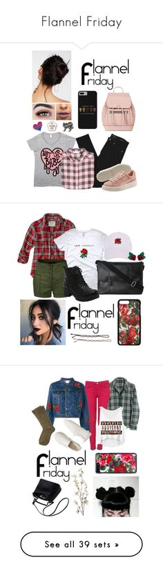 """Flannel Friday"" by a-valen ❤ liked on Polyvore featuring Yves Saint Laurent, H&M, Accessorize, Free People, LASplash, Abercrombie & Fitch, Cole Haan, LE3NO, Armitage Avenue and Atelier Swarovski"