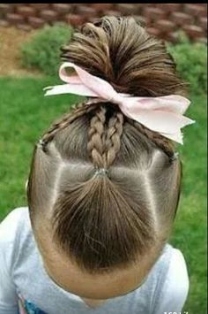 Mutli-braids pulled back to ponytail