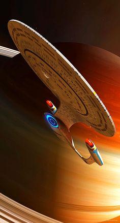 "Encounter At Star Trek geekthegeek:"" Enterprise D by GrahamTG"" Star Trek Cast, Star Trek Series, Star Trek Original, Wallpaper Star Trek, Nave Enterprise, Star Trek Enterprise Ship, Star Trek Posters, Star Trek Gifts, Starfleet Ships"