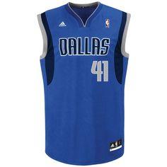 d59da2435 adidas Men s Dallas Mavericks Dirk Nowitzki  41 Revolution 30 Replica  Jersey Camisetas