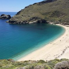 Beautiful Achla Beach in Andros ❤ Summer Breeze, Travel List, Greece Travel, Greek Islands, Beautiful Landscapes, Travel Destinations, Beautiful Places, Outdoors, Holidays