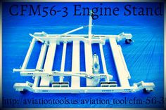CFM56-3 engine stand is available for sale. Made with Heavy duty hardware for mounting your CFM56-3 engine securely, preventing any sort of damage.