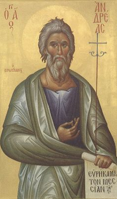 Christallou and the Miracle of Saint Andrew Byzantine Art, Byzantine Icons, Religious Icons, Religious Art, Roman Church, Biblical Hebrew, Religious Paintings, Best Icons, Orthodox Christianity