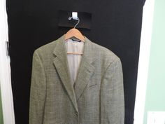 Burberry London Authentic 100% Wool Green Plaid Sport Coat 40R Mint Quick Ship #BurberryLondon #TwoButton