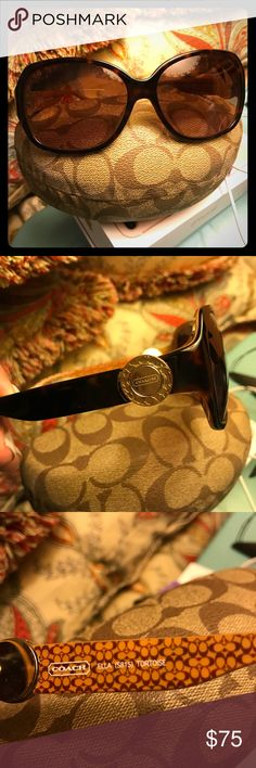 Coach Sunglasses Beautiful tortoise sunglasses. Worn maybe twice. No scratches. Comes with case. Coach Accessories Sunglasses