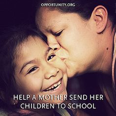 Being a mom is a full time job as it is, but a lot of moms around the world have to work long hours just to provide their children with an education.