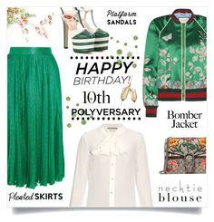 """Celebrate Our 10th Polyversary!"" by kiki-bi ❤ liked on Polyvore featuring Gucci, polyversary and contestentry"