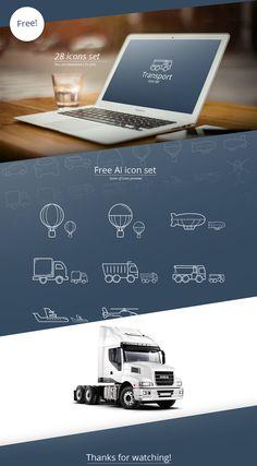 Free Transport Icon Set