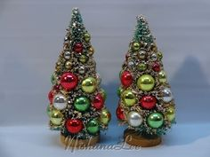 Vintage Napco Christmas Bottle Brush Trees with by MyVintageNiche
