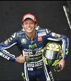 Happy Valentino Rossi after coming 3rd at Indianapolis 2014