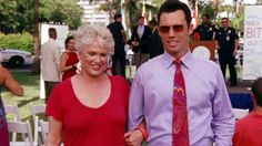 """You know what, let's get you out of here."" [Madeline Westen]  ""What about your award Ma?"" [Michael Westen]  ""Oh they can mail it to me… You can take your tie off now."" [Madeline Westen]  ""Thank you."" [Michael Westen]   Pictured: Michael Westen (Jeffrey Donovan) and Madeline Westen (Sharon Gless)"
