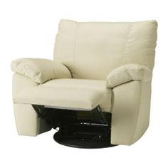 VRETA Swivel/reclining/armchair IKEA Soft, hardwearing and easy care leather is practical for families with children.