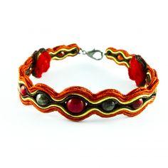 bransoletka-sutasz-czerwona-red-soutache stylish bracelet-stylenautcom