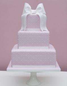 Delicate Dots Wedding Cake