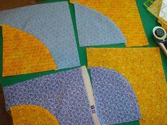 How to Make Wonky Drunkard's Path Quilt Blocks