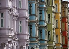 The many colored buildings in Innsbruck, Austria make it one of the most memorable places!
