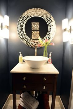 Whether you are remodeling your old bathroom or constructing a new one, these beautiful bathroom mirror ideas are fun, stylish and creative #bathroom