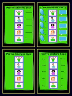 Emotions Scales Positive and Negative Scales and Activities  Great Colorful Emotions Visuals!  KID TESTED/TEACHER APPROVED! Fun, Colorful Scales To Help Children Identify And Discuss Emotions. I have made them in 2 sets (High Color and Low Color) and in 4 varieties to offer you choice and flexibility in how you wish to use them. Laminate these and have them for years to come. So many ways to use these.