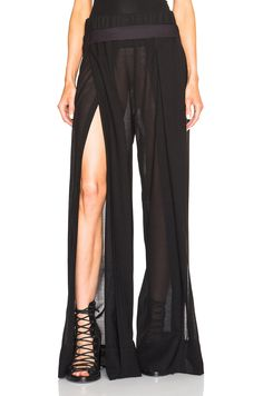 ANN DEMEULEMEESTER Wide Leg Belted Trousers. #anndemeulemeester #cloth #