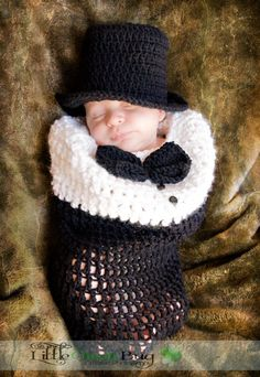 Baby's First Tuxedo Baby Cocoon & Top Hat
