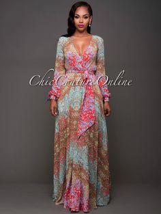 Chic Couture Online - Ellison Multi-Color Floral Print Maxi Dress, $100.00 (http://www.chiccoutureonline.com/ellison-multi-color-floral-print-maxi-dress/)