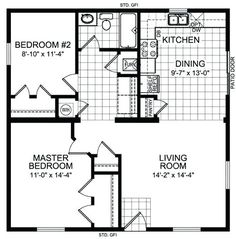 20 x 30 cabin plans 1 bedroom x house floor plans