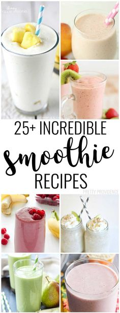 There are some AMAZING smoothie recipes in here! Strawberry, peach, oatmeal, pear or blueberry smoothies - you name it!
