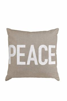 """This is a 15"""" square pillow that features """"Peace"""". You can use this for holidays and year around!   Peace Square Pillow by Grasslands. Home & Gifts - Home Decor - Pillows & Throws Kentucky"""